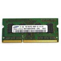 *Б/У* Оперативная память SODIMM 1GB (1066MHz) DDR3 Samsung M471B2873FHS-CF8 1R*8 PC3-8500S [BUR0001-28], с разбора