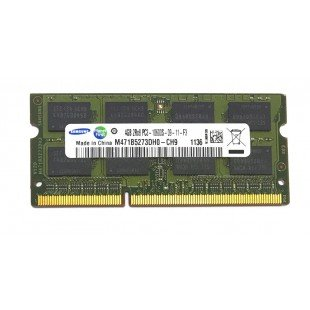 Оперативная память SODIMM 4Gb (1333MHz) DDR3 Samsung M471B5273CM0-CH9 2R*8 PC3-10600S-09-10-D1, с разбора