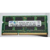 *Б/У* Оперативная память SODIMM 2Gb (1333MHz) DDR3 Samsung M471B5673FH0-CH9 2R*8 PC3-10600S-09-10-F2 [BUR0058-16], с разбора