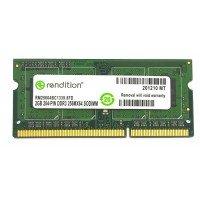 *Б/У* Оперативная память SODIMM 2Gb (1333Hz) DDR3 Rendition RM25664BC1339.8FD PC3-10600 [BUR0001-15], с разбора