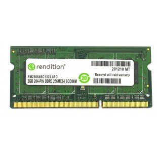 *Б/У* Оперативная память SODIMM 2Gb (1333Hz) DDR3 Rendition RM25664BC1339.8FD PC3-10600, с разбора