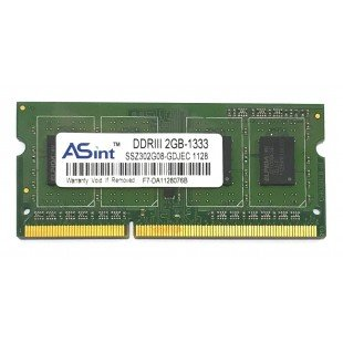 Оперативная память SODIMM 2Gb (1333MHz) DDR3 ASint SSZ302G08-GDJEC PC3-10600S, с разбора