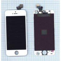 Модуль (матрица + тачскрин) для iPhone 5 в сборе с тачскрином (JDF) белый [6504]