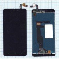 Модуль (матрица + тачскрин) для Xiaomi Redmi Note 4X черный [6514]
