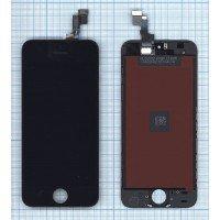 Модуль (матрица + тачскрин) в сборе для Apple iPhone 5S в сборе с тачскрином (LT) черный [6362]