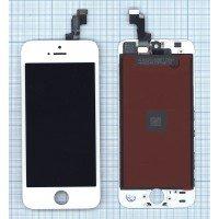 Модуль (матрица + тачскрин) в сборе для Apple iPhone 5S в сборе с тачскрином (LT) белый [6361]