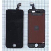 Модуль (матрица + тачскрин) в сборе для Apple iPhone 5C в сборе с тачскрином (LT) черный [6359]