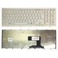 *УЦЕНКА* Клавиатура для ноутбука Sony Vaio VPC-EL (RU) белая, белая рамка - ЧЕРНАЯ ПЕРЕКРАШЕНА В БЕЛУЮ [10102W]
