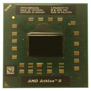 *Б/У* Процессор для ноутбука AMD Athlon II Dual-Core Mobile M340 2.2Ghz/1024/1600 (AMM340DB022GQ), Socket S1 (S1g3)