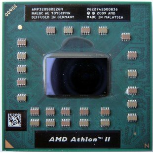 Процессор для ноутбука AMD Athlon II Dual-Core Mobile AMP320SGR22GM P320 Socket S1 (S1g4) (2.10 GHz)