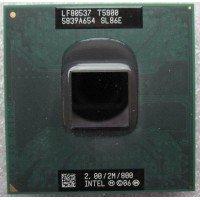 Процессор для ноутбука Intel Core 2 Duo Mobile T5800 SLB6E Socket P (2M Cache, 2.00 GHz), с разбора