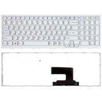 Клавиатура для ноутбука Sony Vaio VPC-EH (RU) белая, белая рамка [10103]
