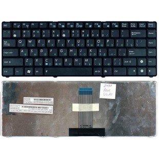 Клавиатура для ноутбука  Asus UL20 EEE PC 1201 (RU) черная с черной рамкой [10090]
