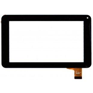 Сенсорное стекло (тачскрин) для планшета DNS E76; Prestigio PER5474BC, PER5574BC ; Explay FOG черный [T00107]