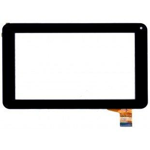 Сенсорное стекло (тачскрин) для планшетов Digma, Explay и др. (ZP9020-7, PB70A8508), черное [T00105]