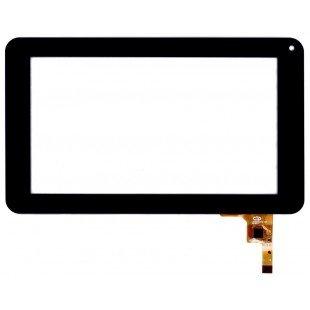 Сенсорное стекло (тачскрин) для планшета Digma iDj7n  черный (12 pin)