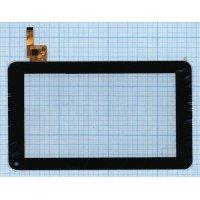 Сенсорное стекло (тачскрин) для планшета Prestigio multipad 7.0 PMP3670B (TOPSUN - C0116 - A1)  черный [T00106]