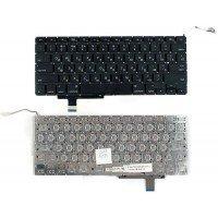 Клавиатура для ноутбука Apple Macbook A1297 (RU) черная, плоский Enter