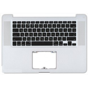 Клавиатура для ноутбука Apple Macbook A1286 2009+ (RU) черная, топ-панель