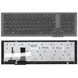 Клавиатура для ноутбука Asus G75V G75VW (RU) черная с подсветкой