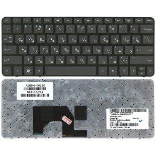 Клавиатура для ноутбука HP Mini 210-1000 (RU) черная с черной рамкой [10132]