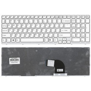 Клавиатура для ноутбука Sony Vaio SVE15 белая [10097]