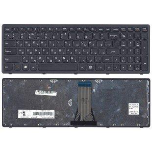 Клавиатура для ноутбука Lenovo G505s Z510 S510 (RU) черная, с черной рамкой [10150]