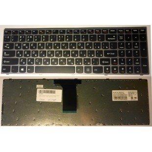 Клавиатура для ноутбука LENOVO B5400 M5400, черная, серая рамка, RU [10148]