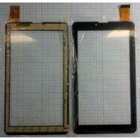 Сенсорное стекло (тачскрин) для планшета Digma Hit HT7070MG, OYSTERS T72 3G, EXPLAY SURFER 7.34 3G черный [T00101]