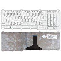 Клавиатура для ноутбука Toshiba Satellite C650, C660, C670, C750, L650, L670, L750, L770 (RU) белая [10158]