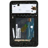 Модуль (матрица + тачскрин) Lenovo IdeaTab A3000 черный, с рамкой [T00203]