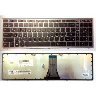 Клавиатура для ноутбука Lenovo G500S, S510, Z510 (RU) черная с серой рамкой [10156]