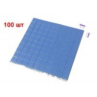 Термопрокладка силикон 100x100x0.5мм с нарезкой 10x10мм, 1.2-3.2Вт/(м*К) [EE0501N-X]
