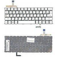 *SALE* Клавиатура для ноутбука Acer Aspire S7-191 (RU) серебристая с подсветкой [10169]