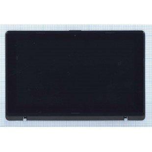 Модуль (матрица + тачскрин)  Asus X200CA черный с рамкой