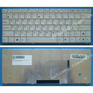 Клавиатура для ноутбука Asus N10, N10E, N10J (RU) белая [00222]