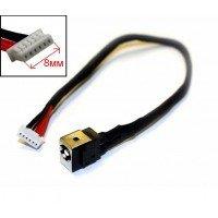Разъем питания для ноутбука LENOVO B560, V560, 50.4JW07.001, с кабелем, коннектор 8мм [20508]