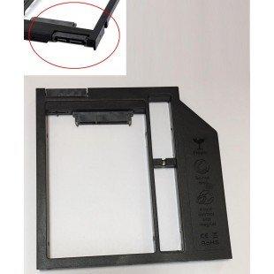 Переходник дополнительного HDD/SSD SATA-III кредл в отсек CD/DVD 9.5 mm