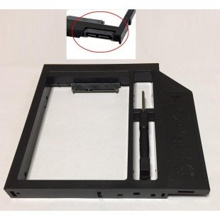 Переходник дополнительного HDD / SSD SATA-III кредл в отсек CD/DVD 12.7 mm, пластик [HDDROM-12P]