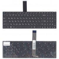Клавиатура для ноутбука Asus K56 черная без рамки (RU), плоский Enter [10190]