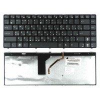 Клавиатура для ноутбука Asus UL30 K42 K43 X42 (RU) черная с подсветкой