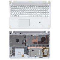 Клавиатура для ноутбука Sony FIT 15 SVF15 (RU) белая топ-панель с подсветкой