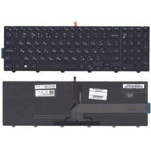 Клавиатура для ноутбука Dell Inspiron 15-3000 15-5000 5547 5521 5542 (RU) черная с подсветкой