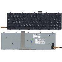 Клавиатура для ноутбука Clevo P170EM (RU) черная с подсветкой