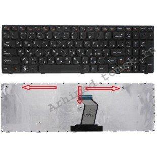 Клавиатура для ноутбука Lenovo IdeaPad G570, G575, G770, Z560, Z565 (RU) черная [10001]
