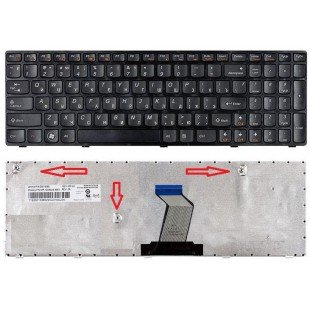 Клавиатура Lenovo IdeaPad B570, B590, V570, Z570, Z575 (RU) черная [00065]
