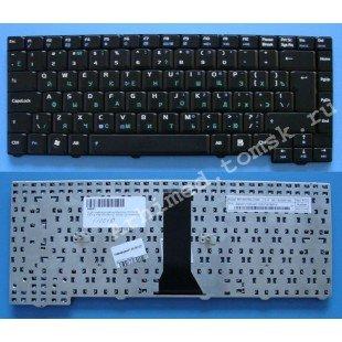 Клавиатура для ноутбука Asus (24pins) F2, F3, F3E, F3F, F3H, F3L, F3M (RU) черная, матовая [10016]