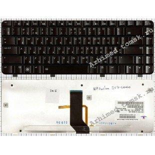 Клавиатура HP Pavilion DV3-2000, DV3-2100 (RU) черная, глянцевая