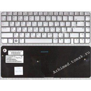 Клавиатура HP Pavilion DV4-1000 (RU) серебристая, глянцевая