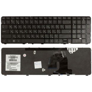 Клавиатура HP Pavilion DV7-4000, DV7-4100 (RU) черная, черная рамка [10402]